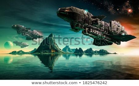űr · támadás · UFO · pop · art · retro · idegen - stock fotó © jossdiim