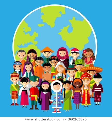 kültürel · çeşitlilik · örnek · çocuklar · farklı · etnik - stok fotoğraf © bluering