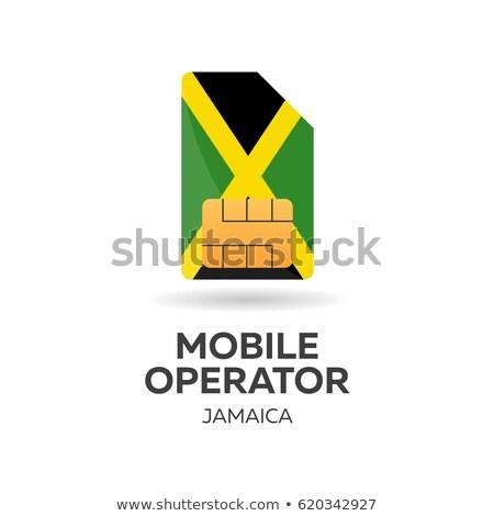 携帯 演算子 カード フラグ 抽象的な デザイン ストックフォト © Leo_Edition