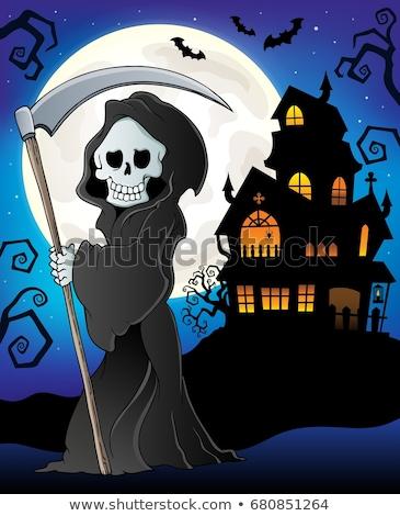 grimmig · lopen · eps8 · nacht · dood · silhouet - stockfoto © clairev