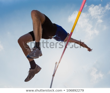 lang · springen · horizontaal · afbeelding · actief · man - stockfoto © fisher