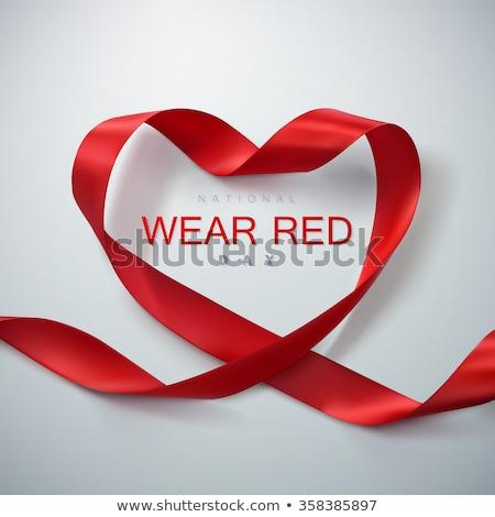 Foto stock: Desgaste · rojo · día · dama · vestido · rojo · icono
