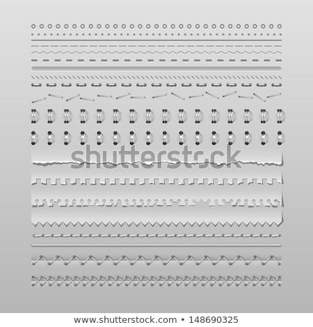 ミシン デザイン 国境 実例 洋裁 パターン ストックフォト © lenm