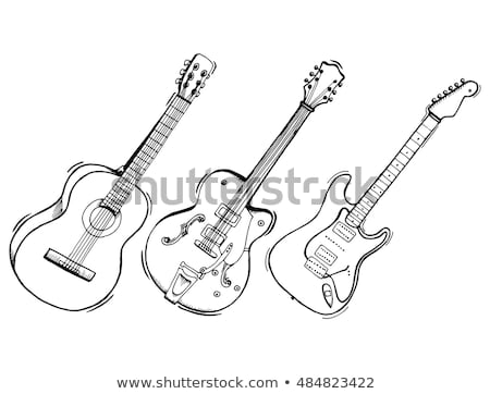 Electric guitar sketch icon. Stock photo © RAStudio