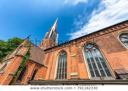 templom · Németország · torony · protestáns · város · felhő - stock fotó © estea