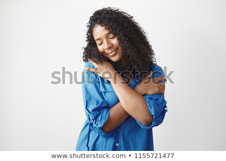 adult, afro, attractive, background, beautiful, beauty, body, closeup, cosmetic, cute, elegance, ele Stock photo © arturkurjan