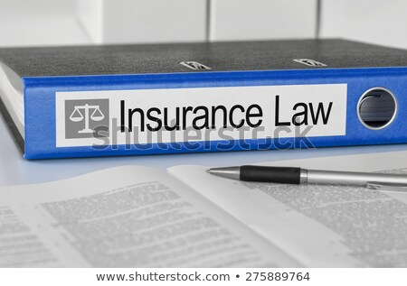 A blue folder with the label Life insurance Stock photo © Zerbor
