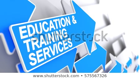 Training Consultancy - Label on Blue Pointer. 3D. Stock photo © tashatuvango