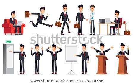 Asia gente de negocios aislado grande establecer empresarial Foto stock © studioworkstock