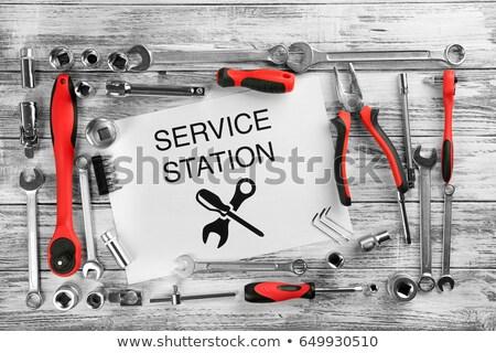 Usługi stacja połączenie klucz projektu narzędzia Zdjęcia stock © djdarkflower