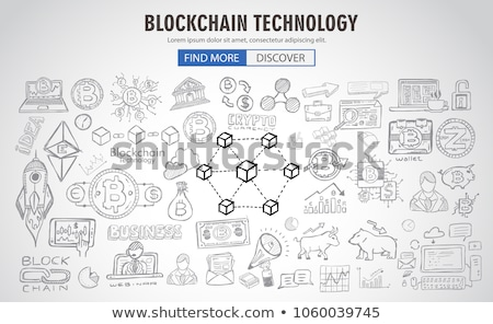 Cryptocurrency concept hand drawn business doodle designs Stock photo © DavidArts
