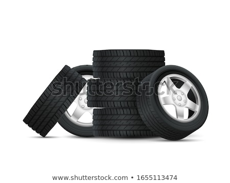 A stack of car tires Stock photo © studiostoks