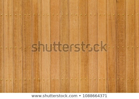 Teak wood panel with brass nail Stock photo © smuay