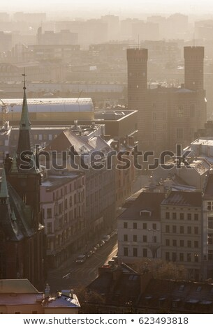 Old Town of Wroclaw panorama with court building Stock photo © benkrut