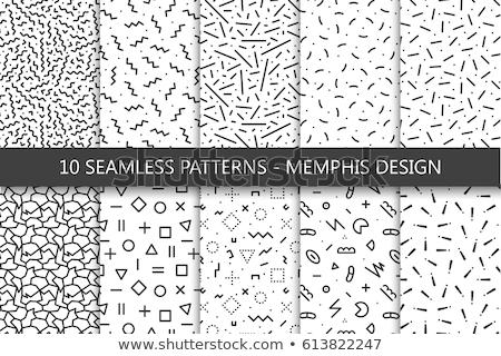 memphis style pattern background design Stock photo © SArts