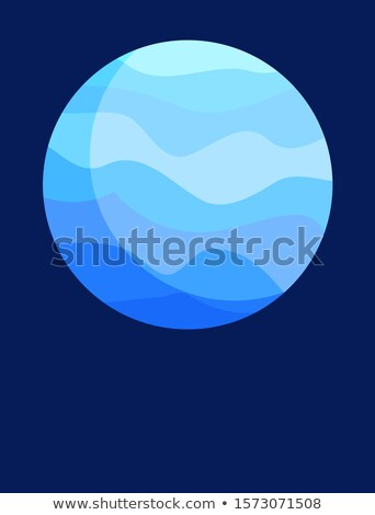 Blue Neptune Planet Vertical Informative Poster Stock photo © robuart