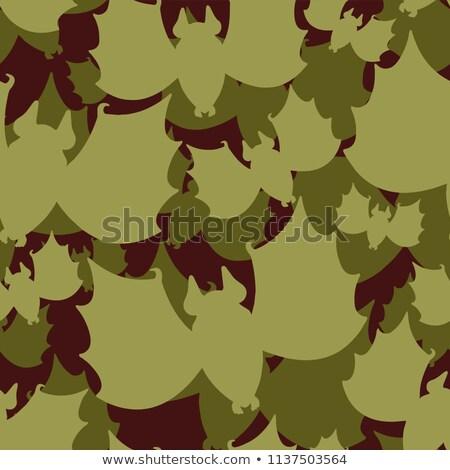 Bat military pattern seamless. Animal Khaki soldiery texture. Gr Stock photo © popaukropa
