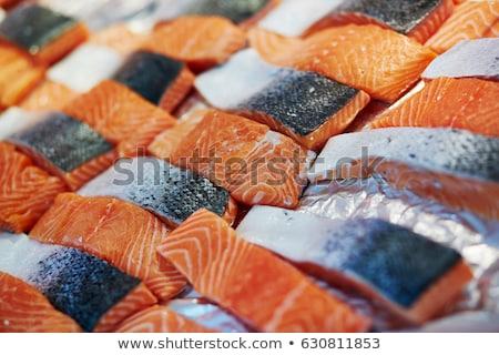 Pisztráng hal farm Franciaország Európa étel Stock fotó © FreeProd