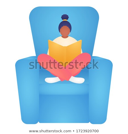 girl child kid teen vector black afro american leisure educational study face emotions var stock photo © pikepicture