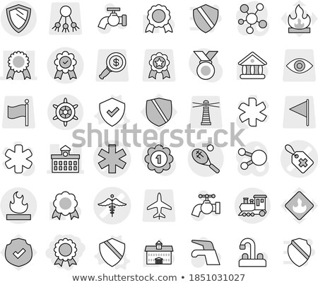 Flammable icon flag isolated on white Stock photo © daboost