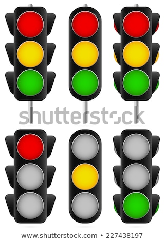 traffic light set or light indicators. traffic lamps, semaphores Stock photo © kyryloff