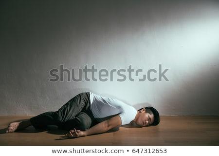 無意識 男 階 若い男 リビングルーム 中心 ストックフォト © AndreyPopov
