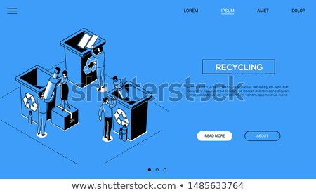 recycling   modern line design style web banner stock photo © decorwithme