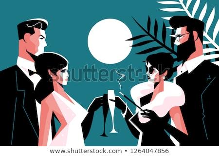 スタイリッシュ 40代 パーティ ファッション 男 女性 ストックフォト © jossdiim
