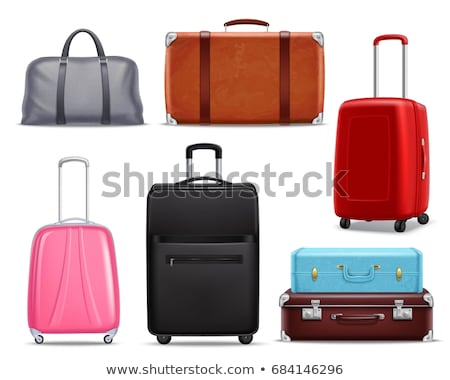 Vintage · чемодан · Funky · изолированный · белый - Сток-фото © robuart