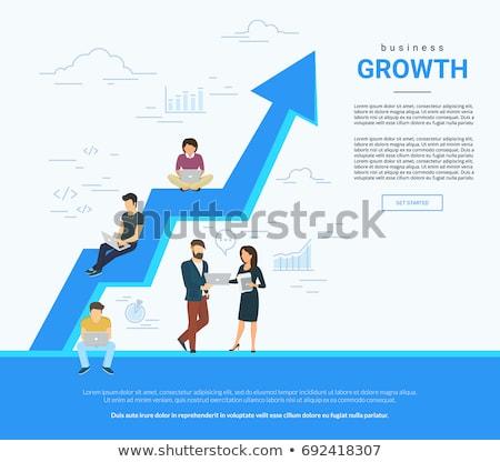 Kariyer gelişme afiş işadamları tırmanmak Stok fotoğraf © RAStudio