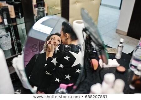 若い男 · 眉 · 女性 · ヘアドレッサー · 白 · 女性 - ストックフォト © lightpoet