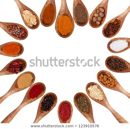 sal · natureza · morta · comida · madeira · mar - foto stock © threeart