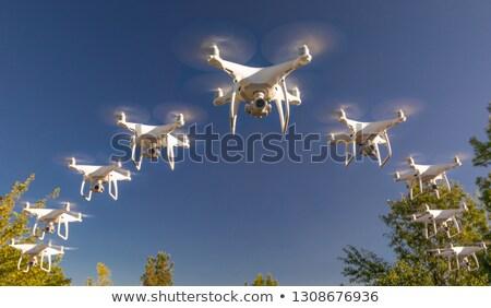 Oluşum mavi gökyüzü gökyüzü fırtına ordu tehlike Stok fotoğraf © feverpitch