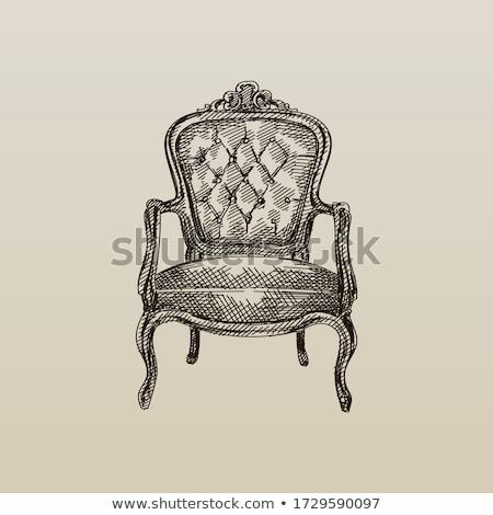 Antique chair Stock photo © ElaK