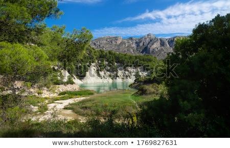 Guadalest, Village in rocky mountains, Costa Blanca Stock photo © LianeM