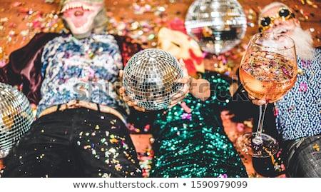Natal festa bêbado pessoas dança corporativo Foto stock © robuart