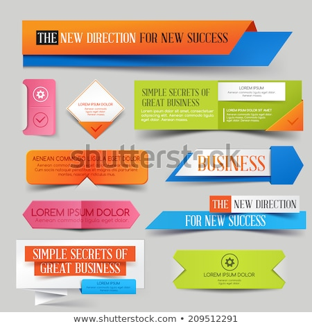 colorful paper style origami sale banner set stock photo © sarts