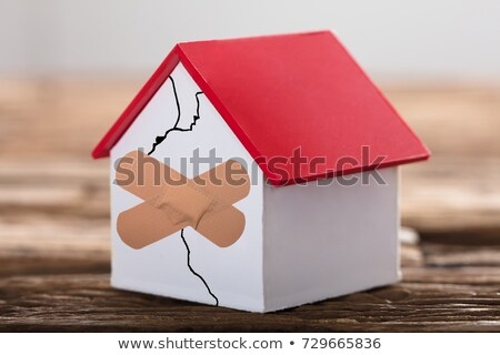 House Model With Crossed Band Aid Stock photo © AndreyPopov
