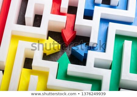 Multi Colored Arrows In The Center Of Maze Stock photo © AndreyPopov