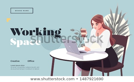 Take away coffee landing page template. Stock photo © RAStudio