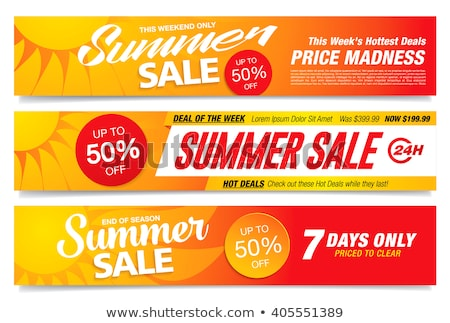 hot sale and discounts for summer banners set stock photo © robuart