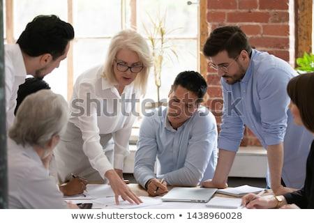 Colaboração negócio desenvolvimento equipe reunião vetor Foto stock © robuart