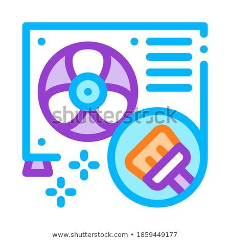 temizlemek · iç · saç · kremi · vektör · ince · hat - stok fotoğraf © pikepicture