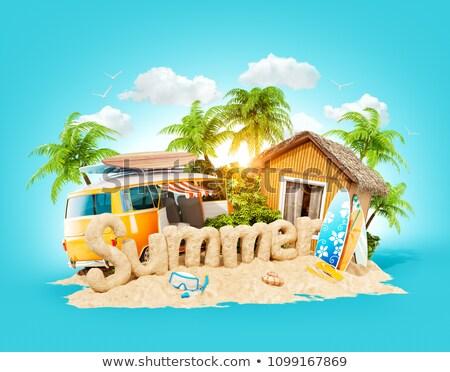 Toerisme sightseeing zomervakantie zee vakantie Stockfoto © robuart