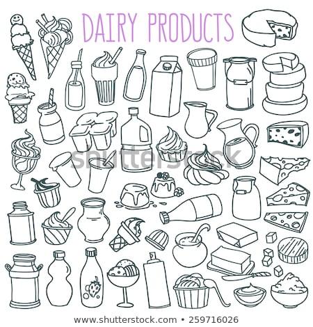 duży · zestaw · żywności · produktów · wektora · ikona - zdjęcia stock © robuart