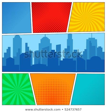 üres halftone képregény oldal sablon absztrakt Stock fotó © SArts