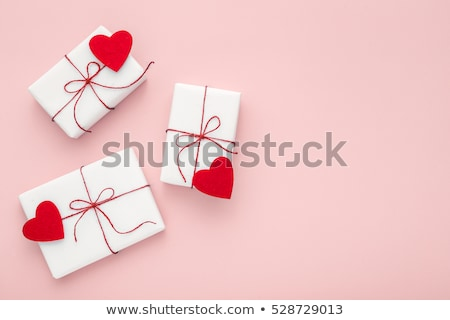close up of gift box and sweets for valentines day Stock photo © dolgachov