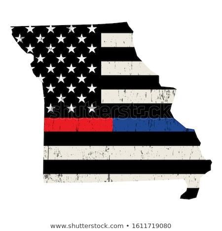 State of Missouri Firefighter Support Flag Illustration Stock photo © enterlinedesign