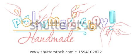 Handmade polymer clay  linear style Stock photo © Olena