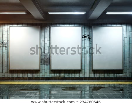Big vertical poster at the metro station